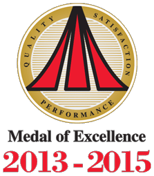 Medal of Excellence 2013-2015