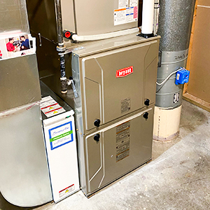 Newly installed furnace